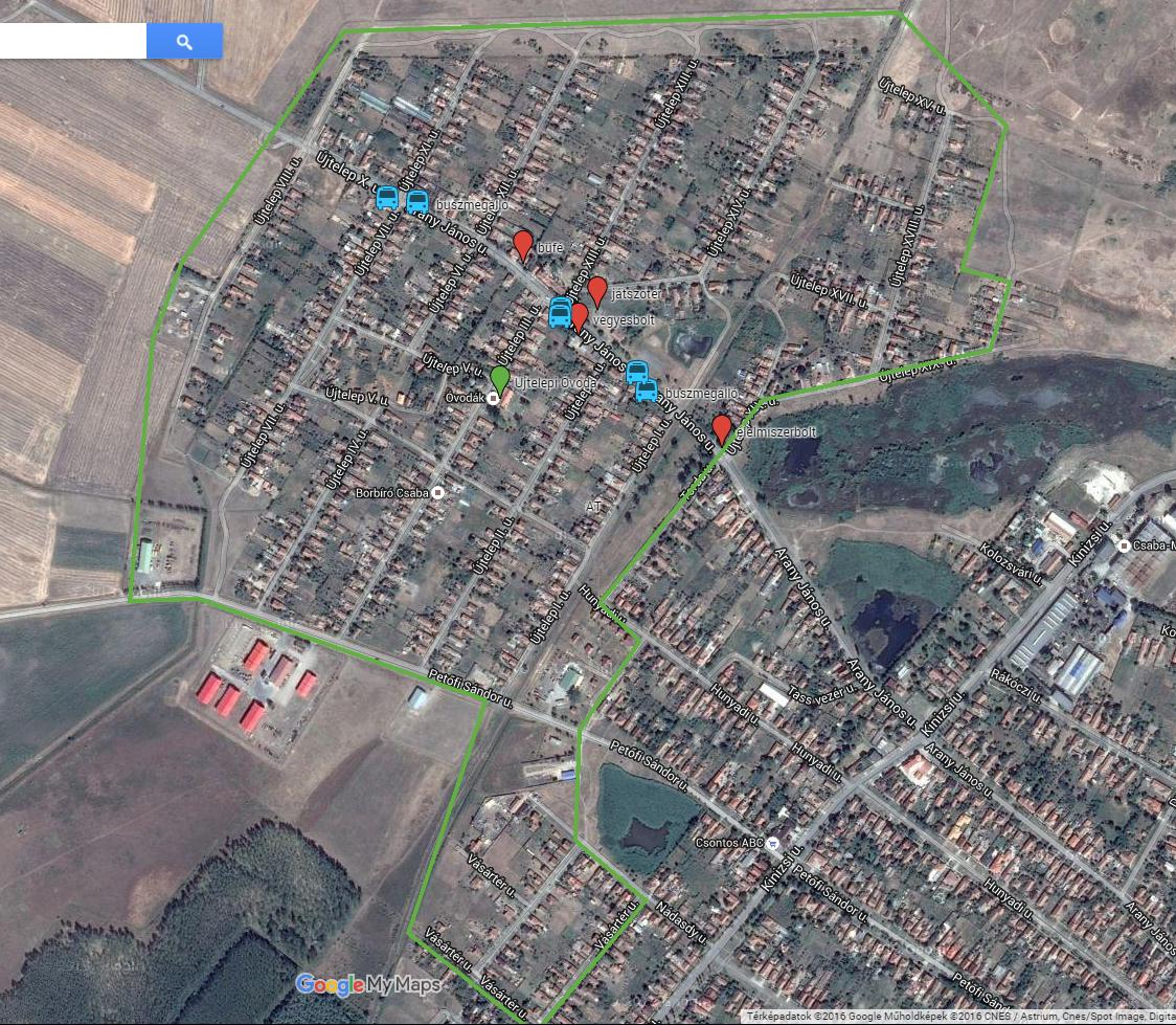 szeghalom térkép Szeghalom Város honlapja   Újtelepi szociális városrehabilitáció szeghalom térkép